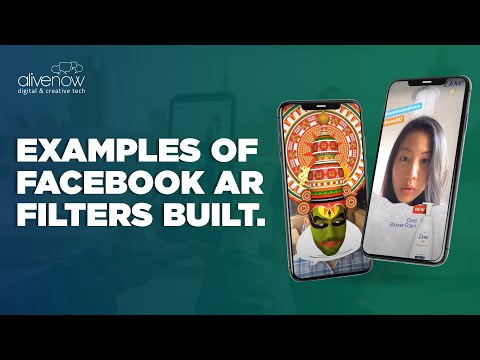 Examples of Facebook Spark AR Camera effects and lenses