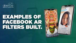Beispiele für Facebook-Spark-AR Kamera-Effekte und Linsen gebaut von AliveNow.