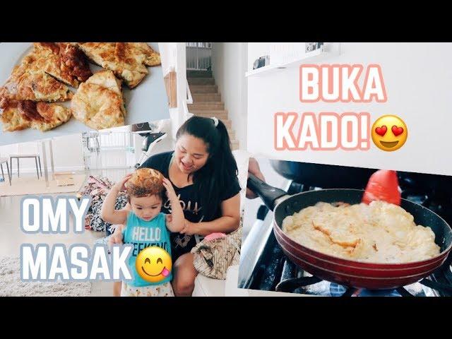 Vlog #238 | BUKA KADO!???? OMY MASAK TELOR DADAR PADANG????, THANK YOU YOUTUBE FAM!