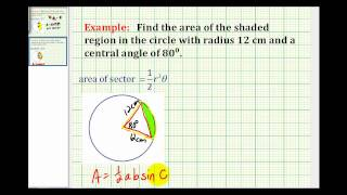 Examples:  Area of a Sector and Area Bounded by a Chord and Arc Mp3