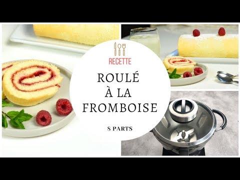 roulé-à-la-framboise---recette-au-cook-expert-de-magimix