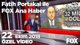 Suriyelilere harcanan para tartışması... 22 Ekim 2018 Fatih Portakal ile FOX Ana Haber