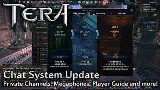 「TERA KR」Chat System Improvements, Megaphones, Player Guide