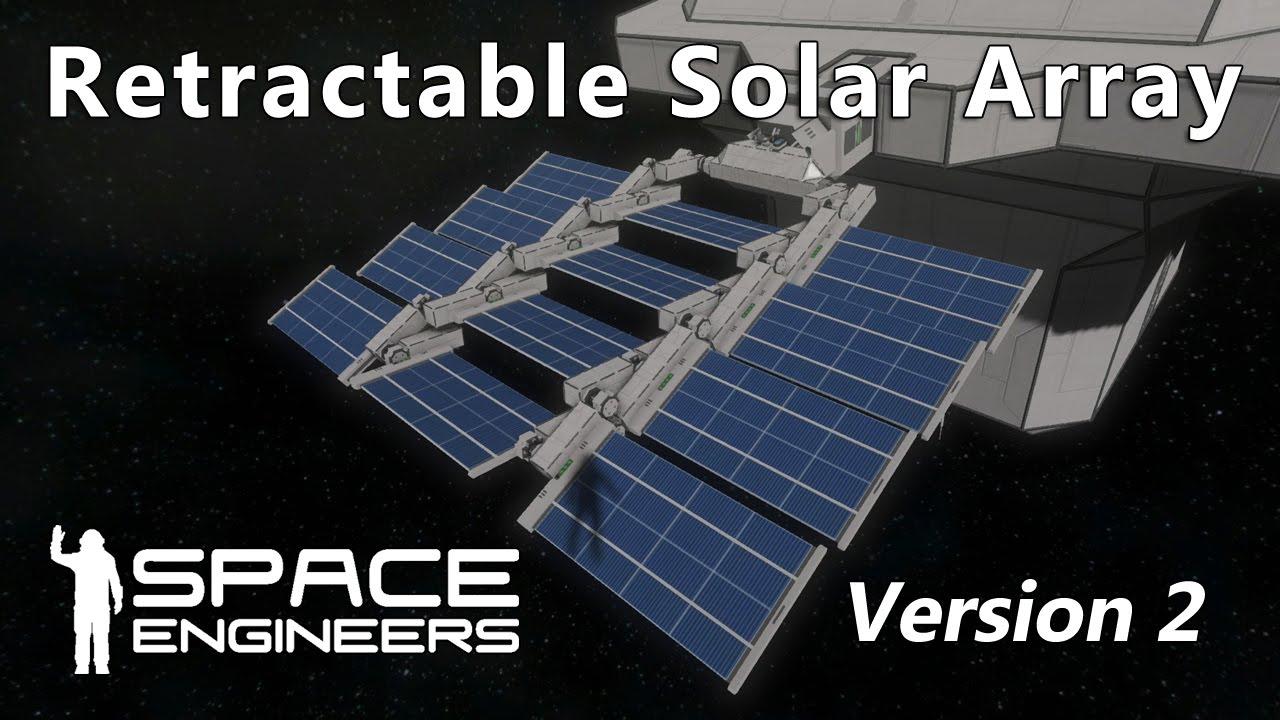 Space Engineers Retractable Solar Array Version 2