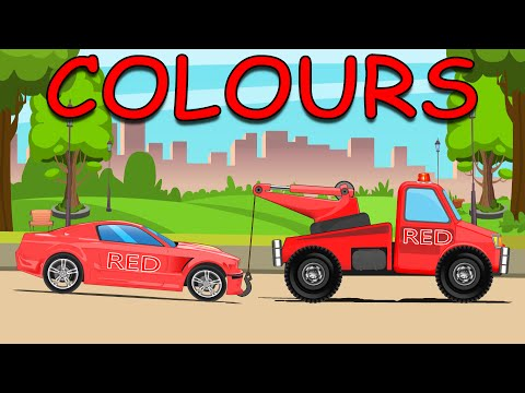 Tow Truck Colors | Learn Colors | Kids Video