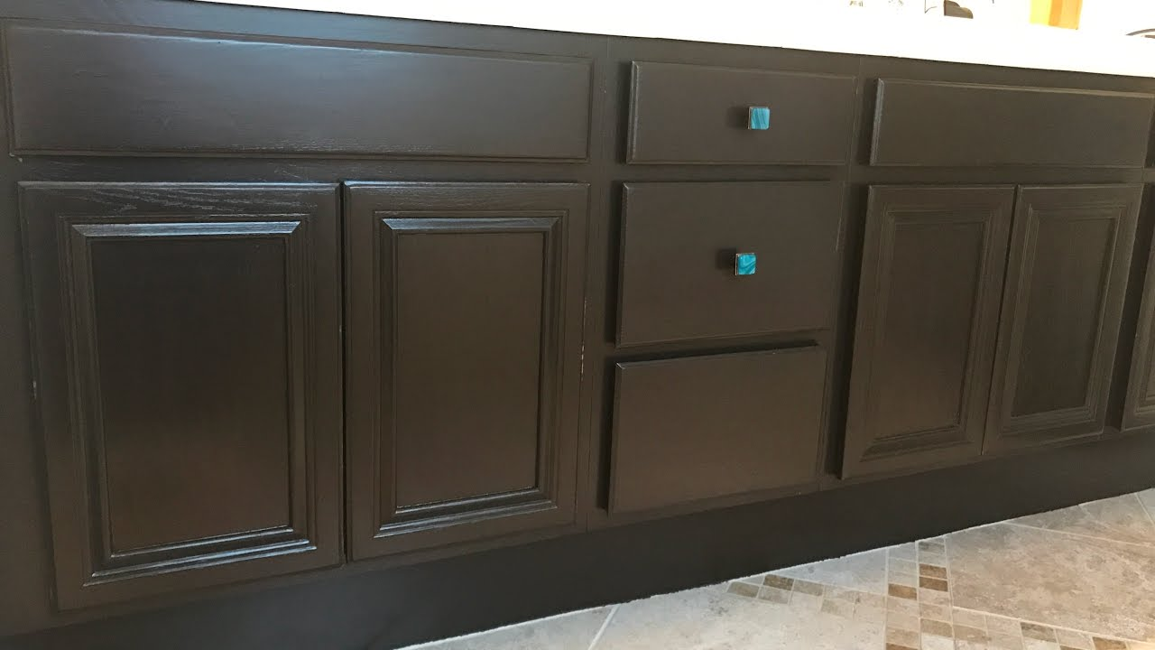 How to Use Gel Stain to Paint Cabinets  DIY  YouTube