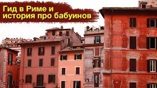 Гид в Риме и история про бабуинов