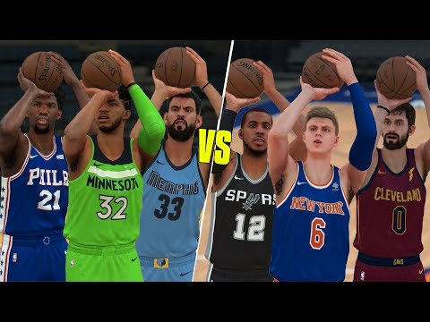 Which Position Is Better At Threes? Centers or Power Forwards? NBA 2K18 Challenge!