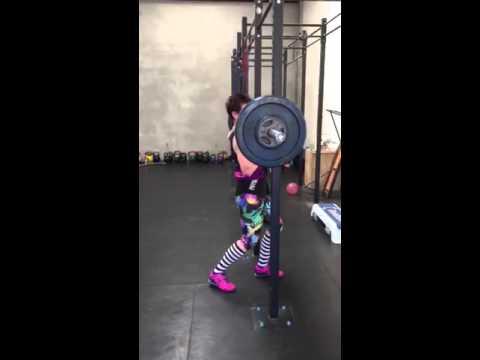 65kg Zercher Front Squat World Record Joanne Newman Nz Youtube