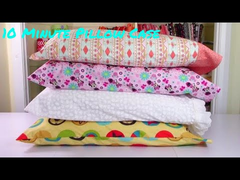 10 Minute Pillow Case   4 Easy Ways   The Sewing Room Channel