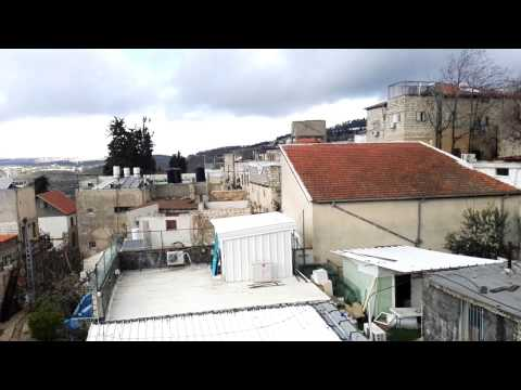 Safed (Tsfat) the Kabbalah City, Israel - a stunning rooftop view from the fig tree courtyard