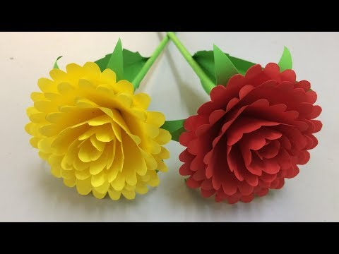 How to Make Beautiful Flower with Paper - Making Paper Flowers Step by Step - DIY Paper Flowers