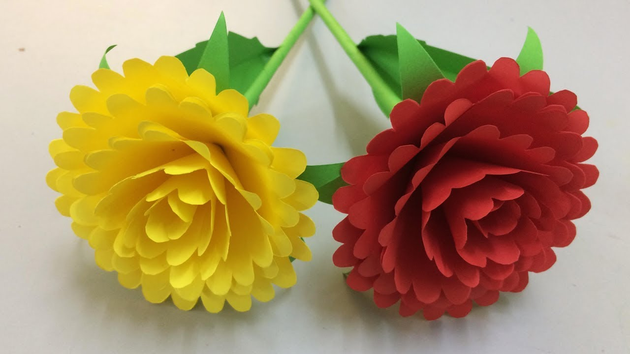 How To Make Beautiful Flower With Paper Making Paper Flowers Step By Step Diy Paper Flowers