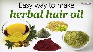 Herbal Hair Oil Preparation Using Herbal Powders