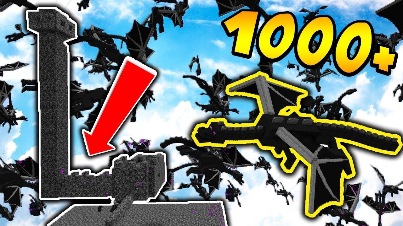 1000 ENDER DRAGONÓW vs BAZA Z BEDROCKA! + ELYTRA – MINECRAFT APOKALIPSA #15