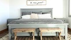 DIY: $25 End of Bed Benches that Look Like Luggage Racks or Suitcase Stands