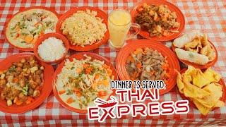 Thai Express Asian Food Challenge w/ Curries, Stir Fry, and Drunken Noodles!!