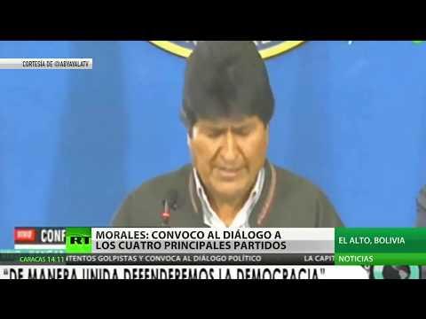 Evo Morales convoca a los partidos políticos de Bolivia al diálogo