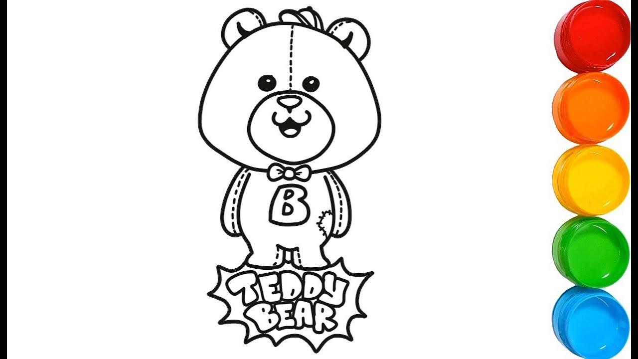 Belajar Menggambar Dan Mewarnai Teddy Bear L Halaman Belajar