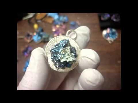 bismuth Crystal Jewelry Showcase
