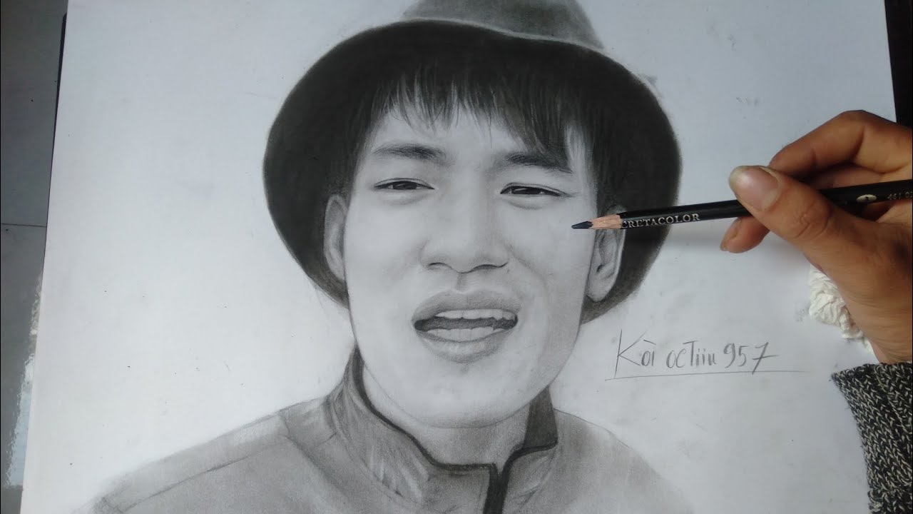 -game ngọc rồng ol _ Vẽ chân dung  KÒI OCTIIU957 bút chì