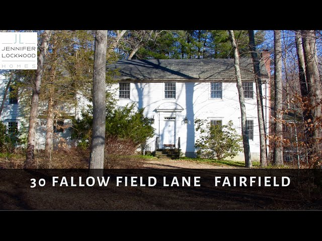 Fairfield CT Homes Real Estate for Sale:  30 Fallow Field Lane in Greenfield Hill