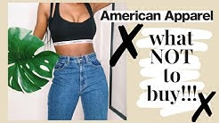 AMERICAN APPAREL TRY ON HAUL 2019| is it good anymore? UPDATE