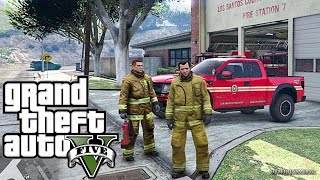 GTA 5 - Rescue Mod V - FIREFIGHTER 7 - (GTA 5 - Rescue Mod V - FIREFIGHTER )