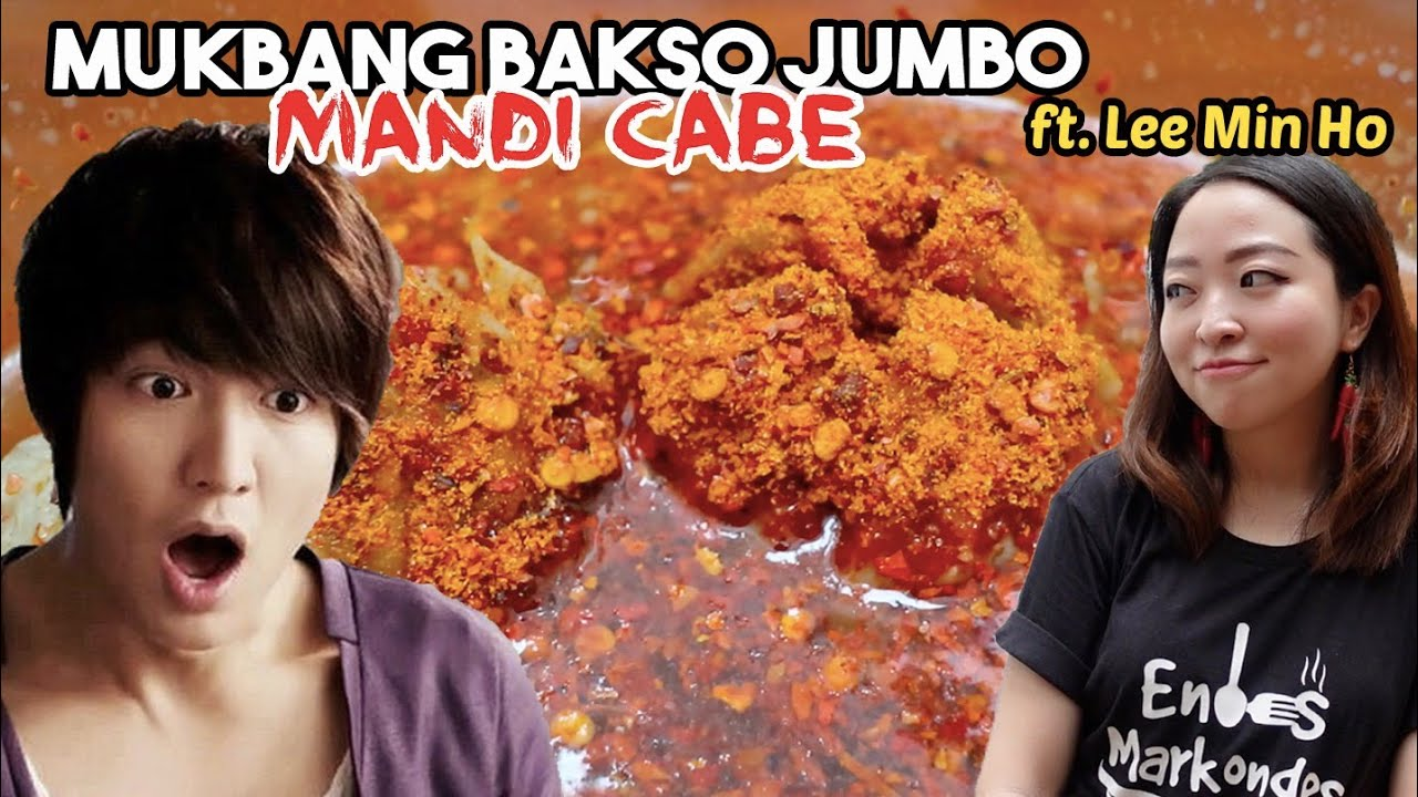 GOKIL! LEE MIN HO COBAIN BAKSO JUMBO MANDI CABE?!
