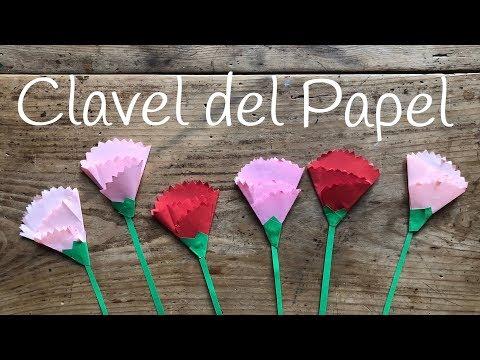 Flores de papel para regalar, claveles
