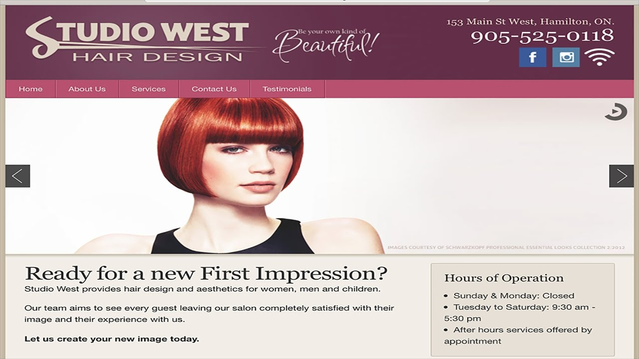 Studio West Hair Design - YouTube