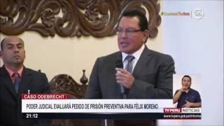 Caso Odebrecht: Poder Judicial evaluará pedido de prisión preventiva para Félix Moreno
