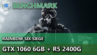 Rainbow Six Siege on R7 2700x + GTX 1060 6gb 1080p benchmarks!