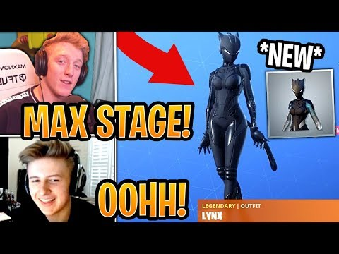 Streamers Get & React to New *MAX STAGE* Black Lynx Outfit! - Fortnite Best and Funny Moments