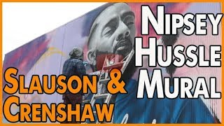 Nipsey Hussle mural commissioned at the site of the murder on Slauson & Crenshaw