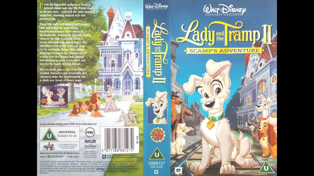 Lady And The Tramp 2 Scamp S Adventure 2001 Uk Vhs Youtube