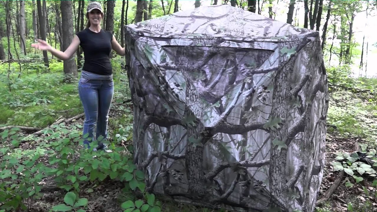 watch youtube blind hunting blinds chair tent person