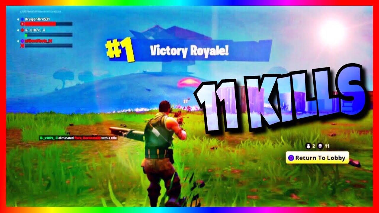 cr!   azy 11 kill win fortnite - fortnite 11 kill win thumbnail