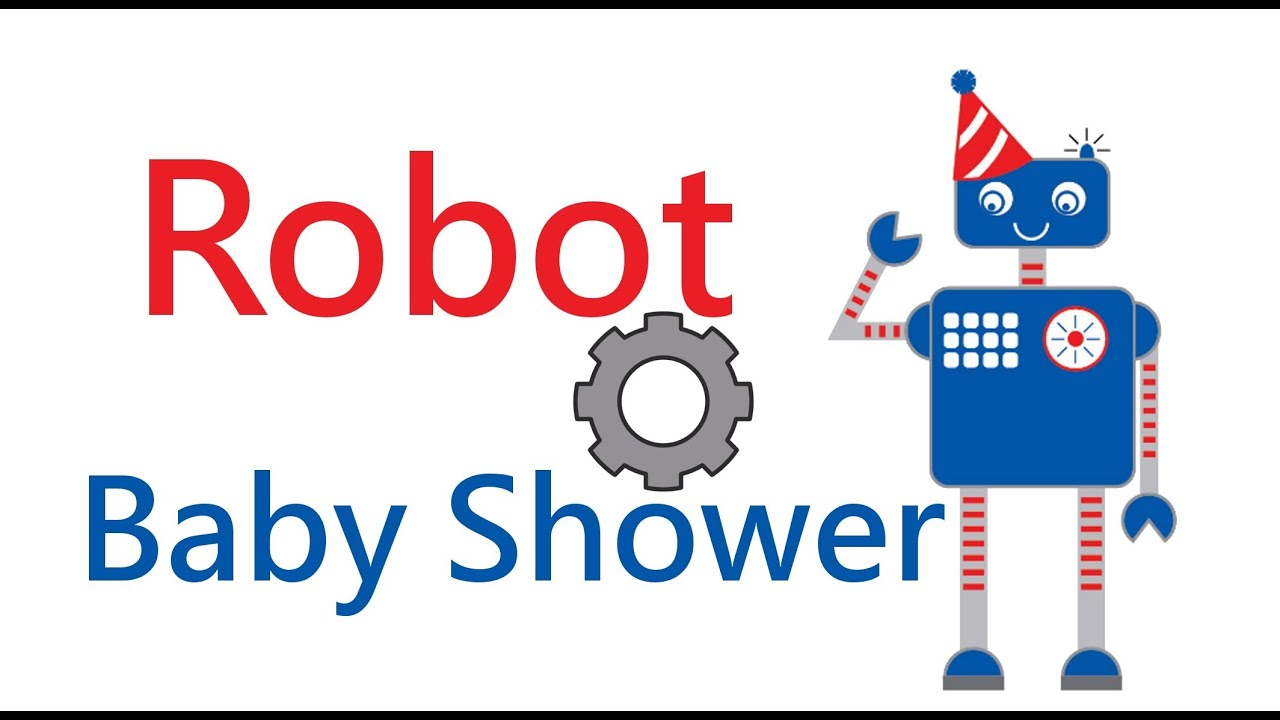 Robot Baby Shower Theme Set