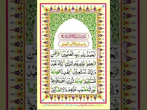 Quran Surah Fatiha Pashto Translation