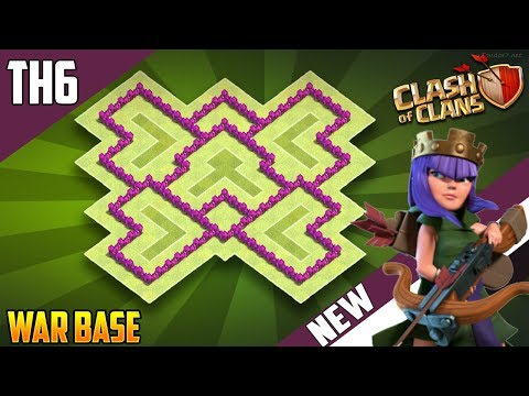 New INSANE TH6 WAR/TROPHY[defense] Base 2018!! COC Town Hall 6 War Base Design - Clash of Clans
