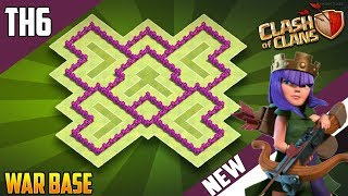 New INSANE TH6 WAR/TROPHY[defense] Base 2018!! COC Town Hall 6 War Base Design - Clash of Clans