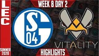 S04 vs VIT Highlights | LEC Summer 2020 W8D2 | Schalke 04 vs Vitality