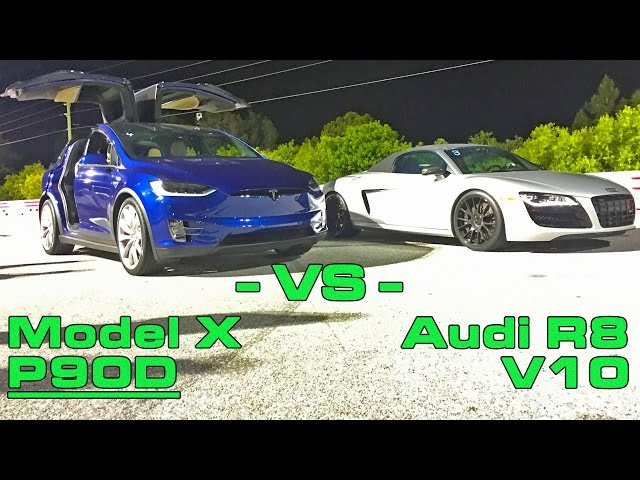 Tesla Model X Simply Obliterates Audi R V In Quarter Mile Drag Race - Audi r8 quarter mile