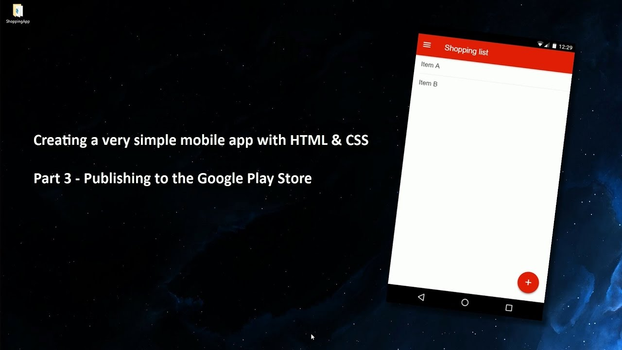 Creating a very simple app with HTML, CSS & Javascript - Part 3/3 -  Publishing the  apk file