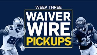 Week 3 Waiver Wire Pickups (Fantasy Football)