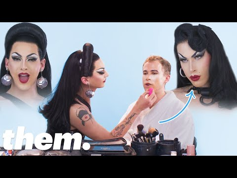 Tommy Dorfman Gets A Drag Makeover From Violet Chachki | them. thumbnail