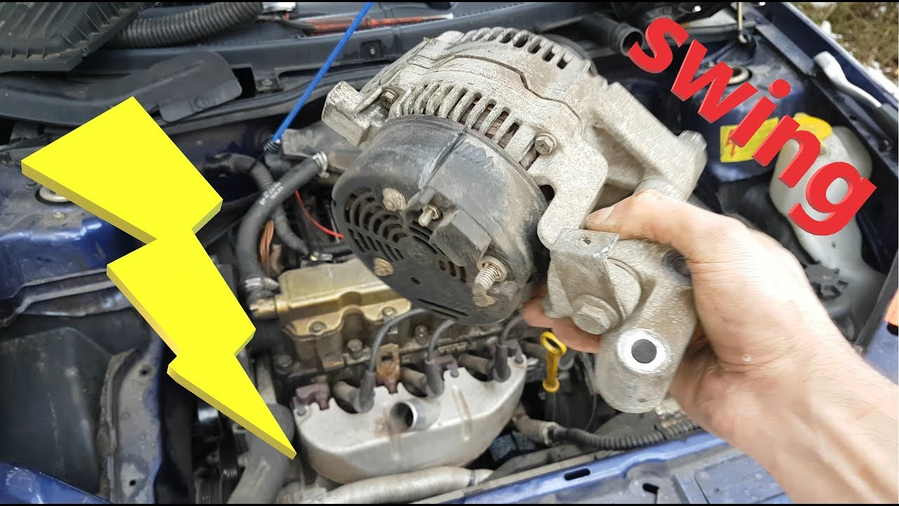hight resolution of opel corsa b alternator removal replacement