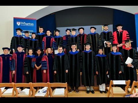 The Wharton School - Doctoral Graduation 2014