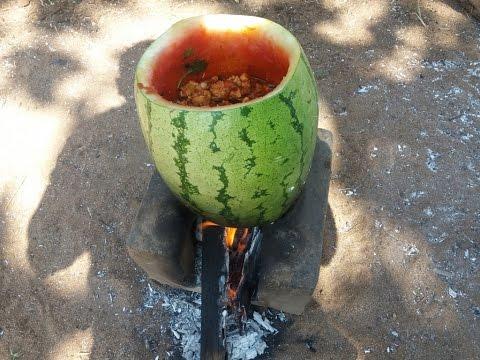Cooking Watermelon Chicken In My Village Spicy Sweet Taste
